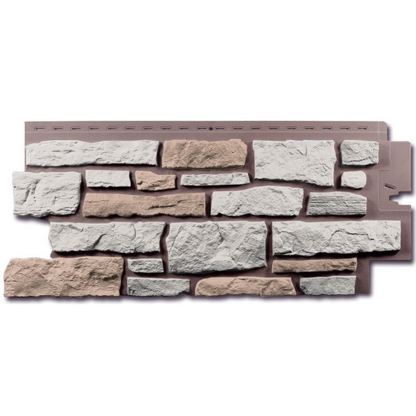 Фасадная панель Nailite Creek Ledgestone Ivory White
